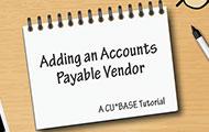 Adding an Accounts Payable Vendor