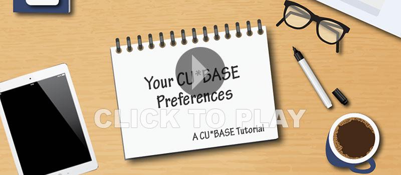 CU*BASE Gold Preferences