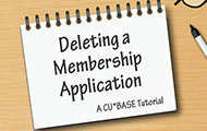 Deleting a Membership Application