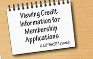 Viewing Credit Information for Membership Applications