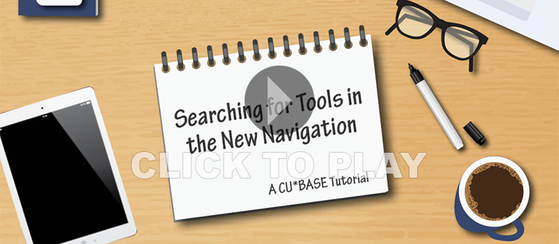 Tools in the new navigation