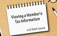 Viewing a Member's Tax Information